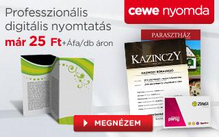 Professzionális digitális nyomtatás már 25 Ft+Áfa/db ártól – CEWE Nyomda